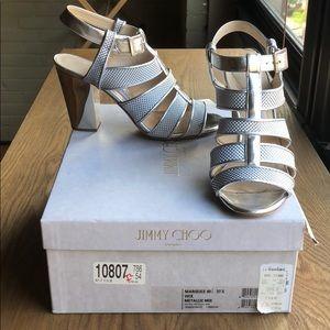 Jimmy Choo Marquee silver block heel sandal